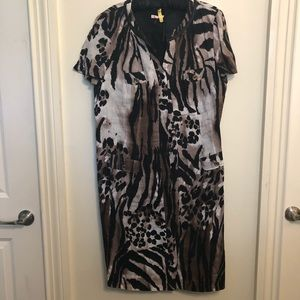 Basler Animal Print Dress